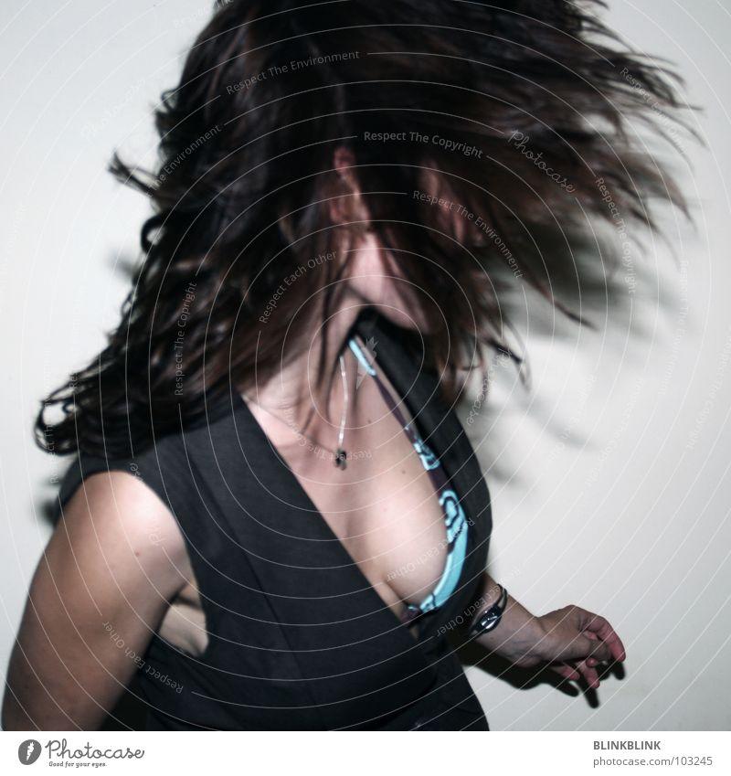 shake your tits! Frau Mensch Hand schön Freude grau Haare & Frisuren Party Mode braun Feste & Feiern Tanzen Haut fliegen Frauenbrust Brust