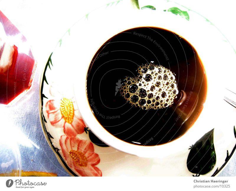 cafe*schwarz n°2 Blume schwarz Kaffee Café Tasse Alkohol