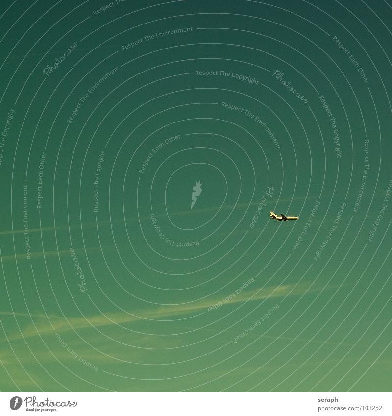 Urlaub Flugzeug Düsentriebwerk Düsenflugzeug Güterverkehr & Logistik Personenverkehr Verkehr Luftverkehr fliegen Himmel Freiheit fliegend Höhe Altimeter Ferne