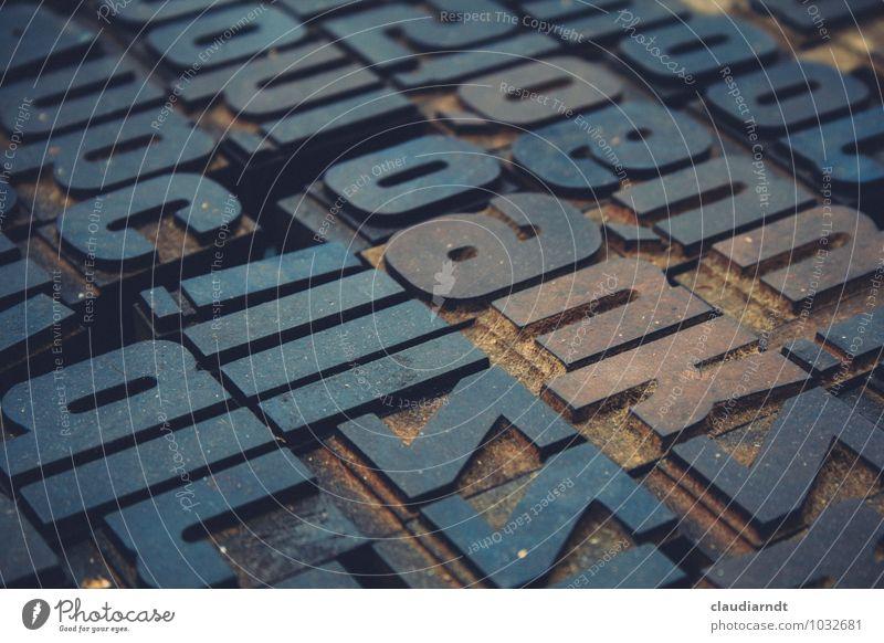 Druckbuchstaben Medienbranche Werbebranche Druckmaschine Stempel Zeichen Schriftzeichen schreiben drucken Druckerei Buchstaben Buchdruck Schriftsetzer Sammlung