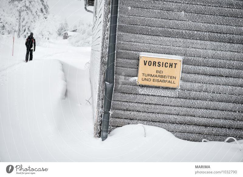 winter hike in the northern Black Forest on a foggy day ruhig Tourismus Winter Berge u. Gebirge wandern Haus Natur Landschaft Nebel Baum Wald Hügel Hütte Hut