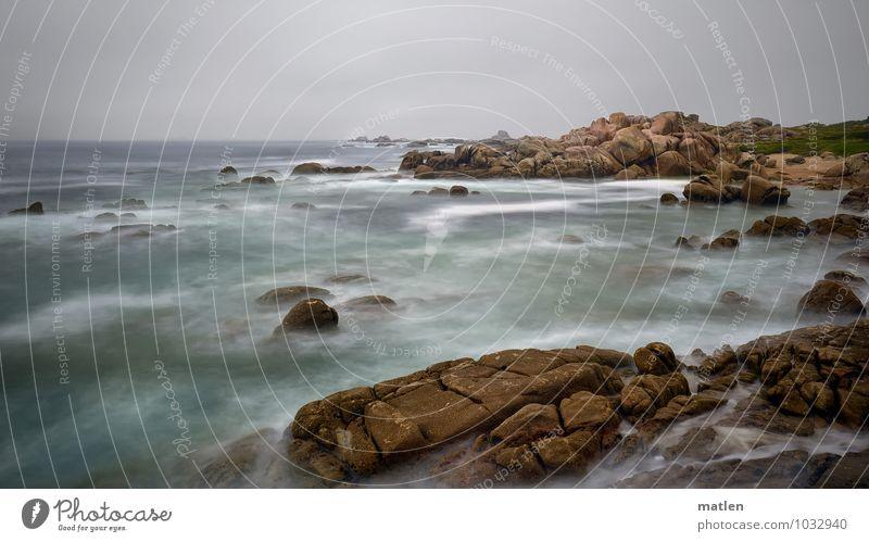 set in stone Himmel Natur grün Wasser Sommer Meer Landschaft Wolken Küste grau braun Felsen Horizont Wetter schlechtes Wetter Riff