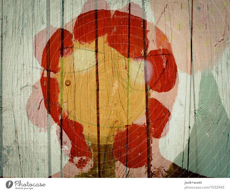 Blumenkind Freude Farbstoff Glück Linie Kopf träumen Fröhlichkeit Kreis Kreativität Idee Streifen einzigartig Wandel & Veränderung Gemälde fest