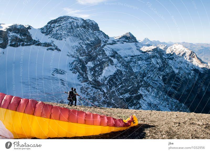 Start Natur Landschaft ruhig Winter Berge u. Gebirge Leben Herbst Schnee Sport Freiheit fliegen Felsen Lifestyle Freizeit & Hobby Luftverkehr Ausflug