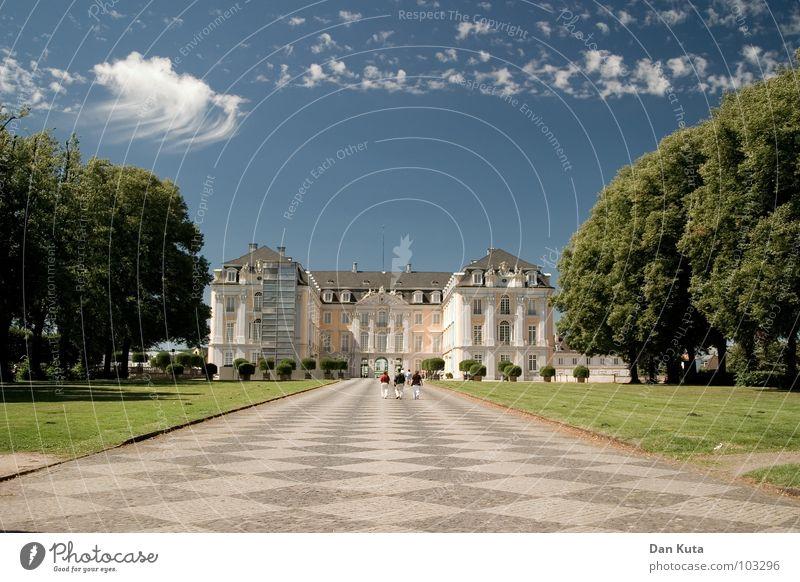 Das Beste kommt zum Schloss Himmel Natur alt blau grün Baum Wolken Ferne Wiese Freiheit Wege & Pfade Linie Kunst Horizont Freizeit & Hobby Ausflug