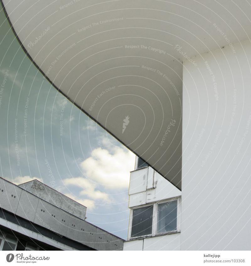geliftet Himmel Stadt Leben Berlin Fenster Landschaft Architektur Raum Beton Hochhaus Fassade rund Niveau Dach Häusliches Leben Balkon