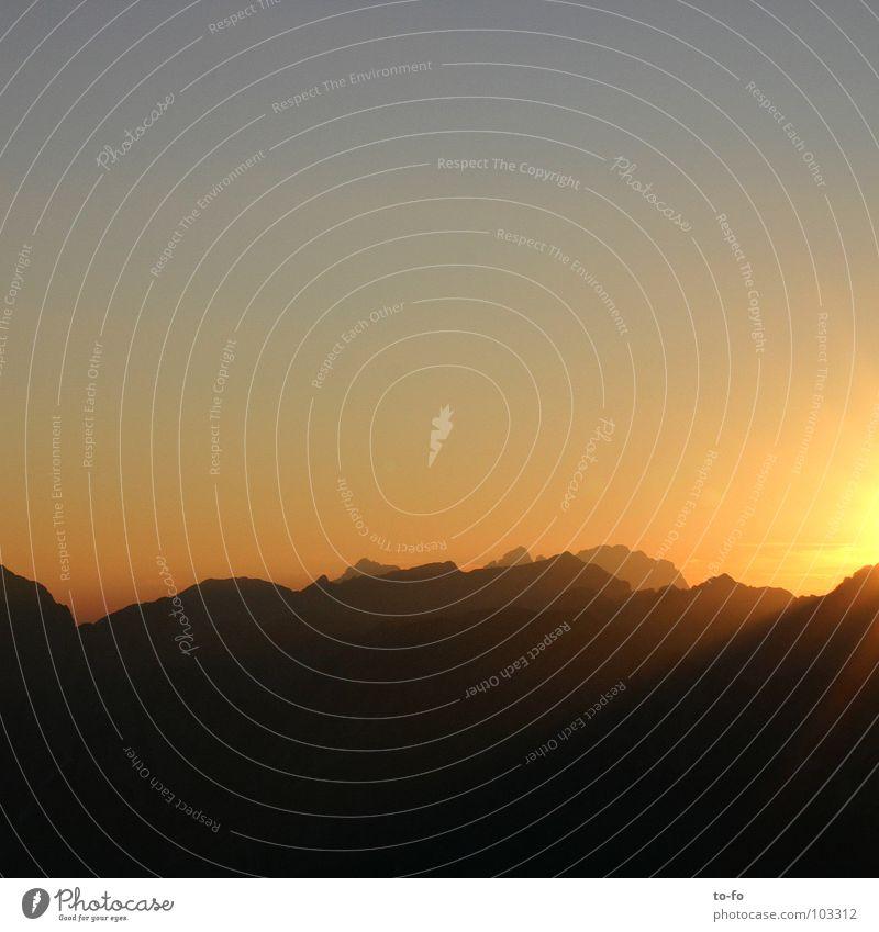 Romantik Himmel Sommer Ferien & Urlaub & Reisen Berge u. Gebirge wandern Alpen Gipfel Bergsteigen Himmelskörper & Weltall Abendsonne Slowenien Julische Alpen