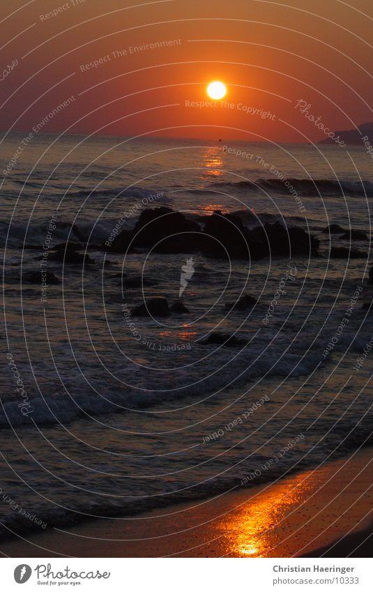 sunset Sonne Meer Strand Felsen