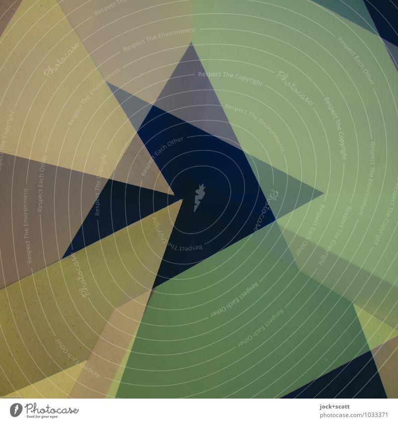 Trend Stil Design Grafik u. Illustration Dekoration & Verzierung Pfeil Dreieck Strukturen & Formen ästhetisch eckig trendy einzigartig modern positiv grün
