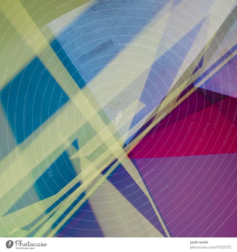 Mixtur Farbraum Stil Design Grafik u. Illustration Dekoration & Verzierung Ornament Kreuz Linie Streifen Strukturen & Formen eckig trendy einzigartig modern