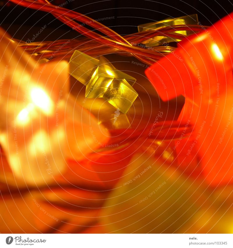 starlight Licht Lichterkette grün rot weiß mehrfarbig dunkel gemütlich Romantik Elektrizität modern Weihnachten & Advent Stern (Symbol) hell nele. Lampe Kabel