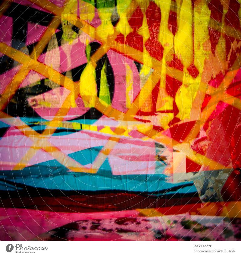 Meeting außergewöhnlich Linie träumen verrückt Kreativität Coolness Sehnsucht fest exotisch skurril Doppelbelichtung Surrealismus Figur Inspiration Identität Straßenkunst