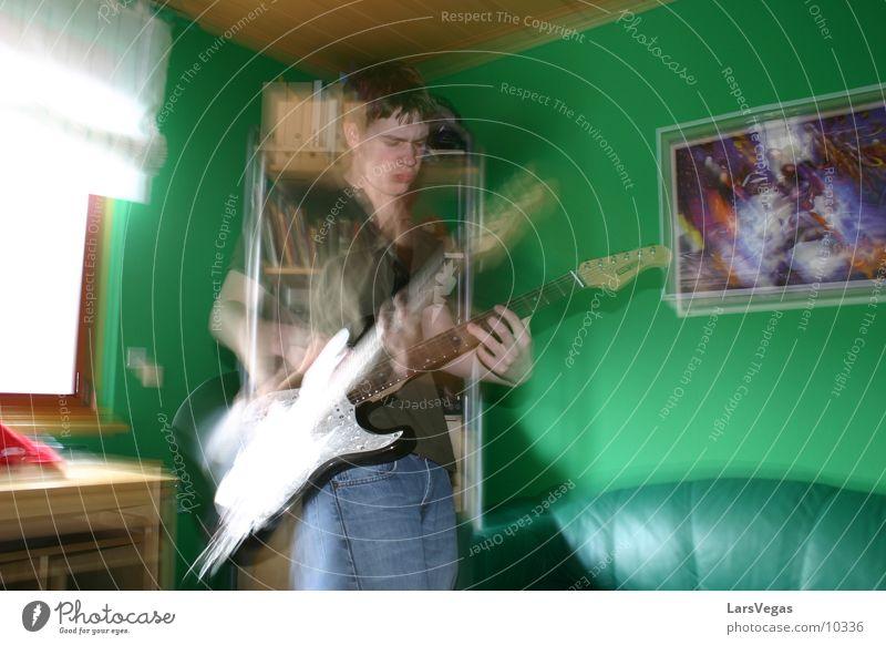 El Mariachi Mann Elektrogitarre Verschommen Bewegung Musik Gitarre Rockmusik