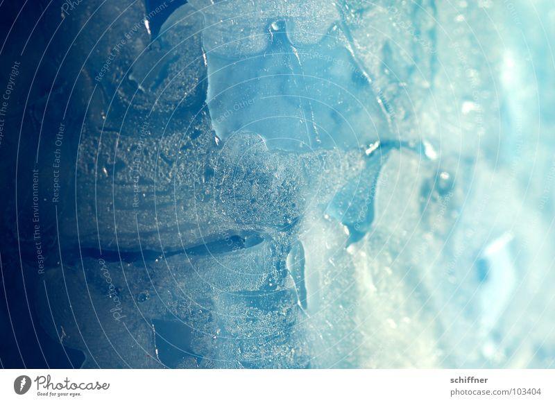 Licht und Schatten Kerze Wachs Hintergrundbild Verlauf abstrakt Strukturen & Formen blau Eis Makroaufnahme