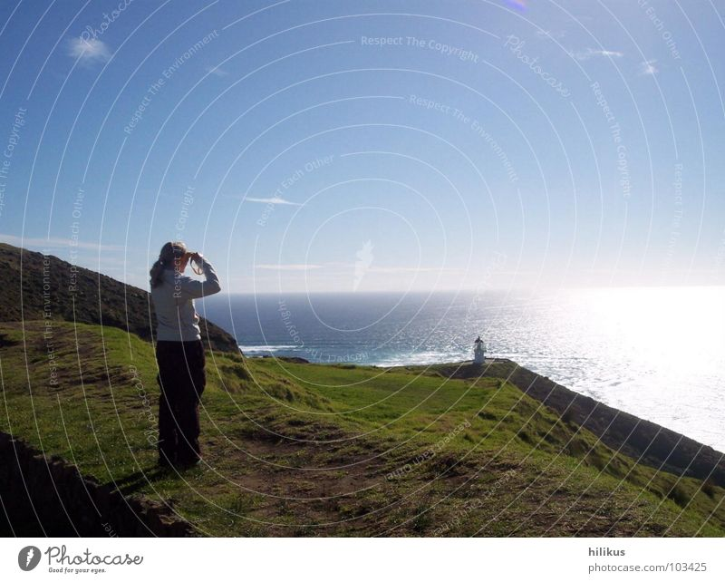 Far Far away Meer Strand Ferne Wiese Küste Leuchtturm Neuseeland Heimweh Pazifik