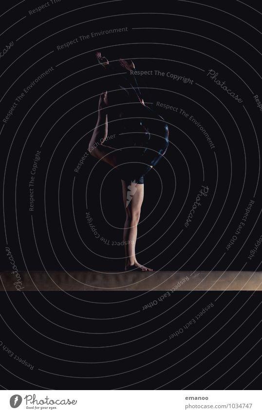 flexible on beam Mensch Frau Jugendliche Junge Frau ruhig Freude Erwachsene Leben Bewegung feminin Stil Sport Beine Lifestyle Körper Tanzen