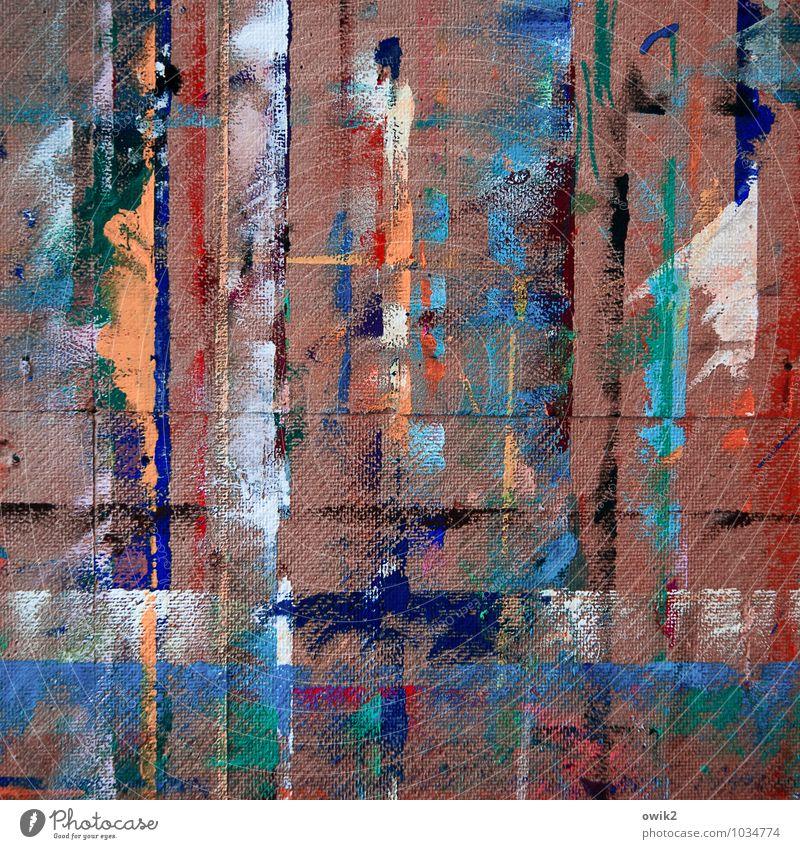Migration blau weiß rot schwarz Farbstoff Linie braun Kunst orange Zufriedenheit leuchten Design verrückt Kreativität Netzwerk Gemälde
