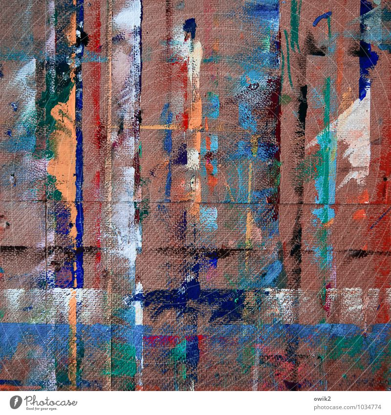 Migration Design Kunst Kunstwerk Gemälde Randerscheinung Farbstoff Farbfleck Farbenspiel Farbenwelt Fleck gefleckt scheckig leuchten verrückt blau braun