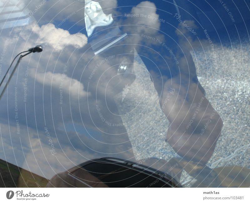 reflexion Hand Himmel Wolken Fenster PKW Spiegel