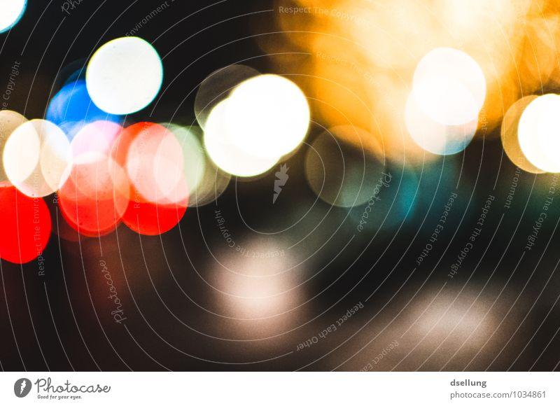 stadtlichter. Stadt blau weiß rot Freude schwarz gelb Glück Feste & Feiern Party träumen Design leuchten Fröhlichkeit ästhetisch Idee