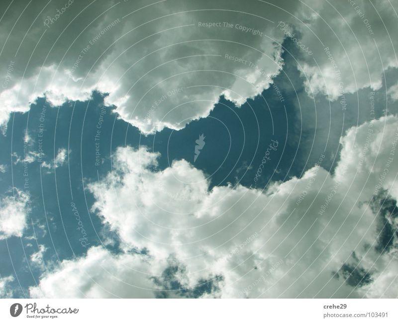 auflockerungen Natur schön Himmel blau Sommer Freude Wolken Stil Glück träumen Wärme Beleuchtung Physik