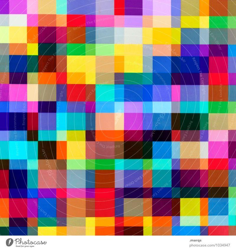 Testbild elegant Stil Design Kunststoff Linie Raster Rechteck Mosaik Coolness trendy einzigartig modern neu chaotisch Farbe Hintergrundbild Doppelbelichtung