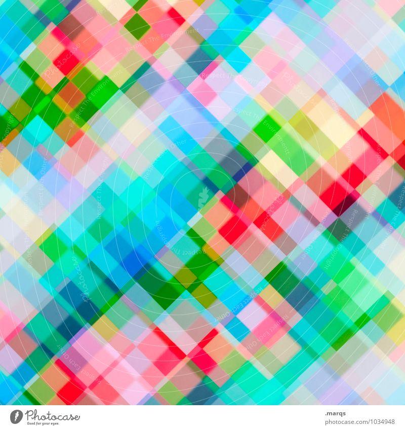 Pixel Lifestyle elegant Design Mosaik Linie außergewöhnlich Coolness hell trendy modern neu verrückt mehrfarbig Farbe Ordnung Irritation Hintergrundbild