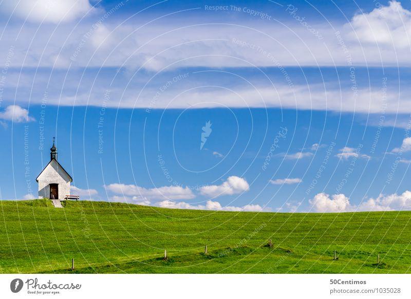 Bilderbuchlandschaft Natur Ferien & Urlaub & Reisen Sommer Sonne ruhig Wolken Umwelt Berge u. Gebirge Wiese Glück Religion & Glaube Freiheit Lifestyle