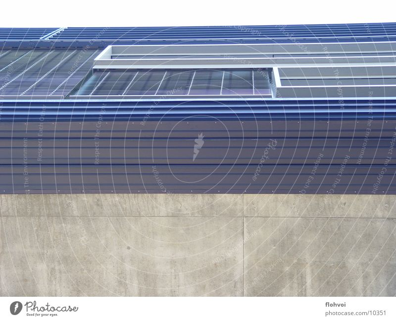 profil blau Fenster grau Metall Architektur Beton Reichtum Eingang interessant