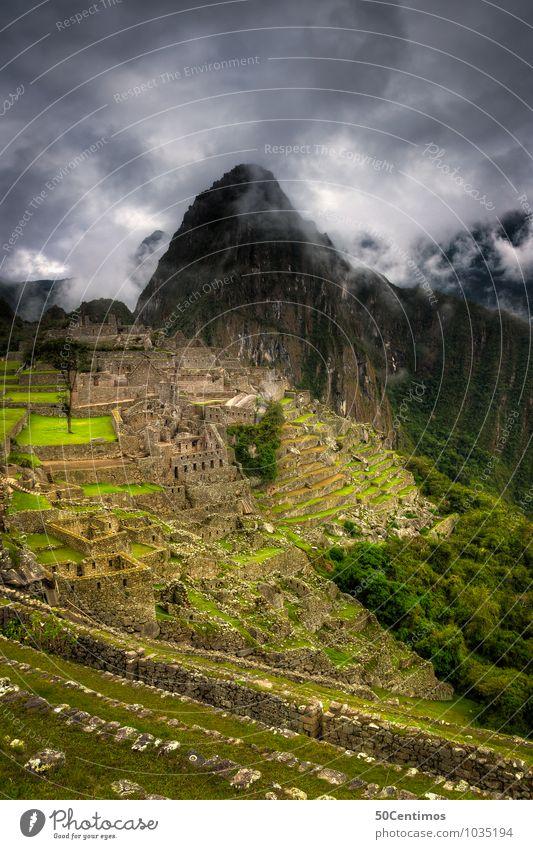Clouds over Machu Picchu Ferien & Urlaub & Reisen Tourismus Abenteuer Ferne Berge u. Gebirge Umwelt Landschaft Klima schlechtes Wetter Nebel Pflanze Feld Urwald