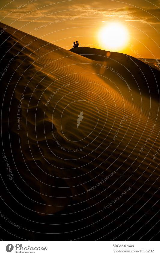 Sonnenuntergang in der Wüste, Ica Peru Ferien & Urlaub & Reisen Tourismus Ausflug Abenteuer Ferne Freiheit Safari 2 Mensch Umwelt Sand Sonnenaufgang genießen