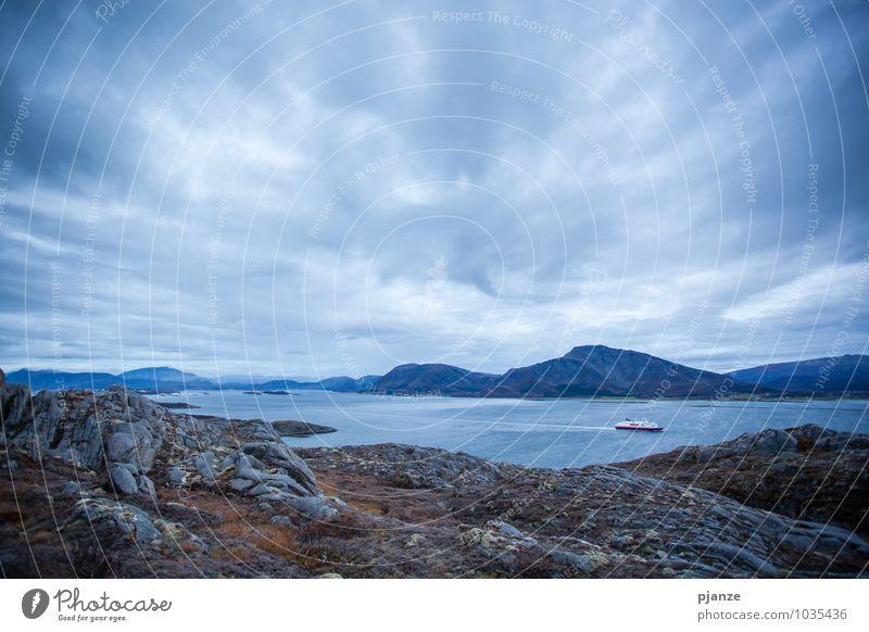 Eine Schifffahrt, die ist schön... Ferien & Urlaub & Reisen Tourismus Ausflug Ferne Kreuzfahrt Berge u. Gebirge Natur Landschaft Wasser Himmel Wolken