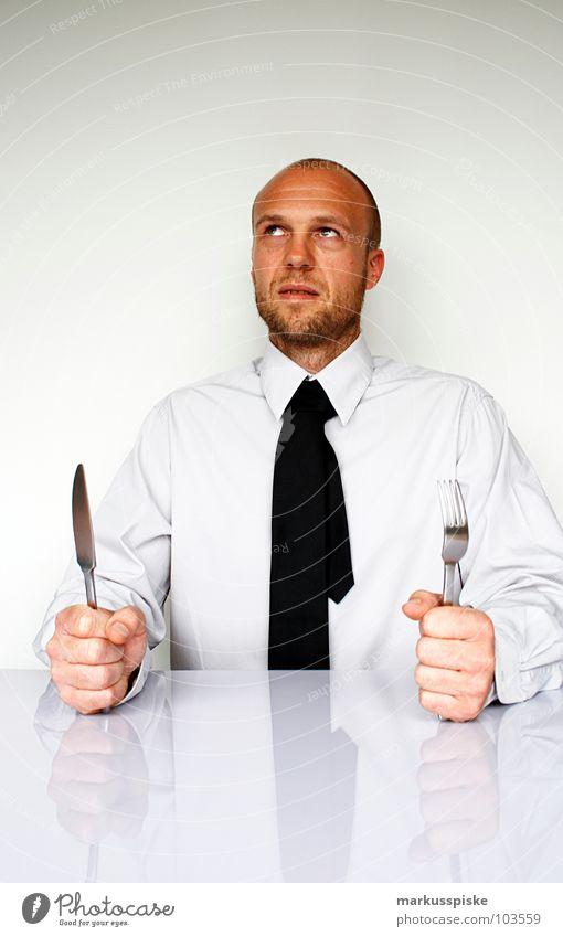 business lunch Sitzung Brainstorming geschäftlich Krawatte Hemd Geschäftsleute Aktien Sauberkeit sehr wenige Reflexion & Spiegelung Hand Faust