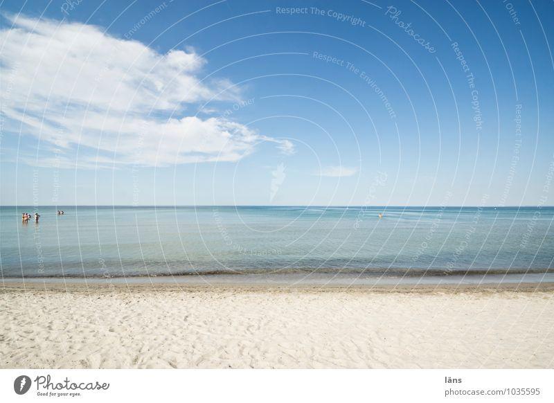 Standortfrage Ferien & Urlaub & Reisen Sommer Strand Mensch Leben Menschengruppe Umwelt Natur Landschaft Sand Wasser Himmel Schönes Wetter Wärme Küste Ostsee
