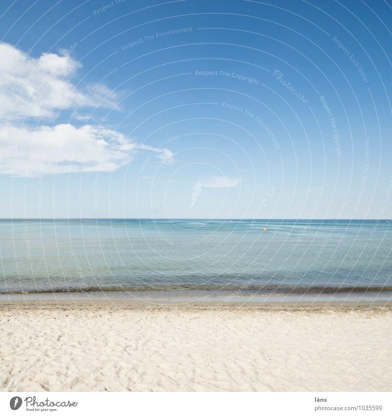 elementar l meer als genug Strand Sand Freiheit Ostsee Himmel