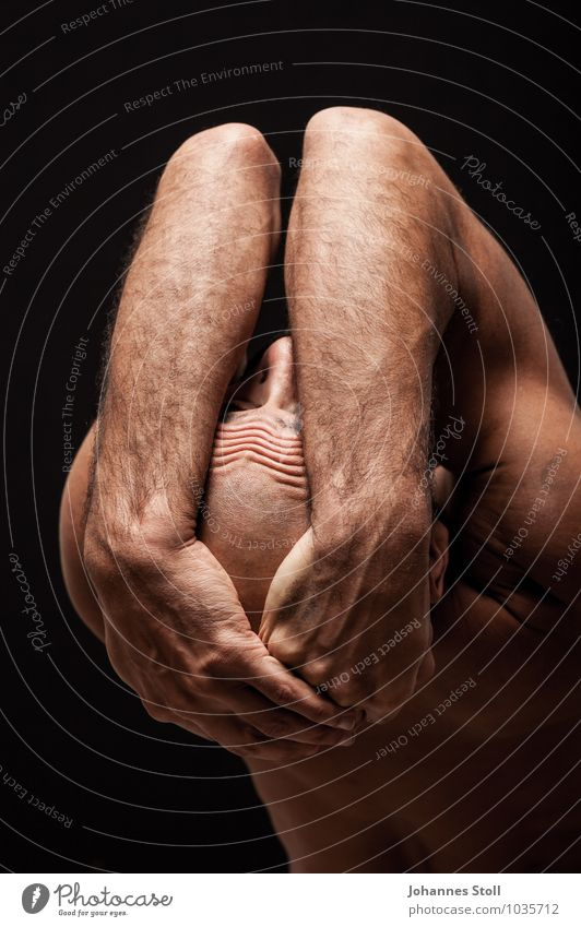 Tänzerfalten II Mensch nackt schön Erholung Erotik Erwachsene Gefühle Bewegung Kunst maskulin Körper Haut Rücken Tanzen berühren
