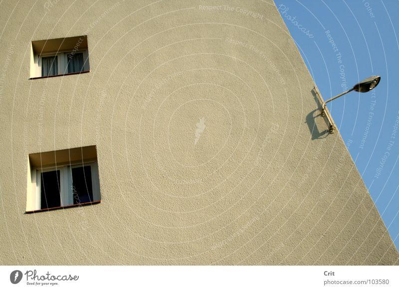 the watchtower Licht Straßenbeleuchtung Detailaufnahme window building light contrast grey gray concrete Mauer