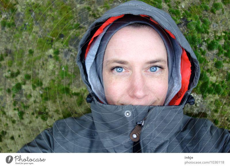 endlich Wochenende! :-) Stil Freizeit & Hobby Ferien & Urlaub & Reisen Ausflug Winter Frau Erwachsene Leben Gesicht Auge 1 Mensch 30-45 Jahre Moos Jacke