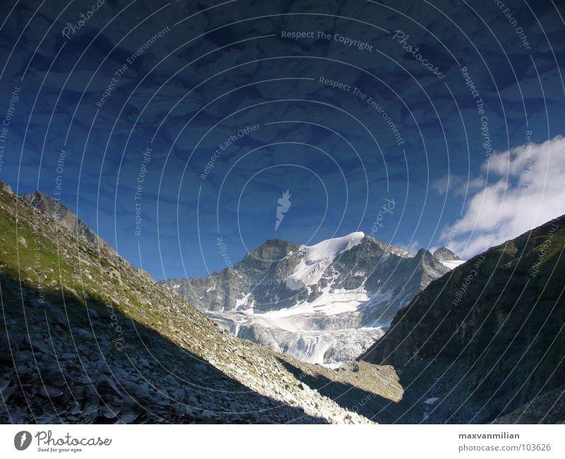 Spiegelposer (Duo) Wasser blau Berge u. Gebirge See Eis Küste Gletscher