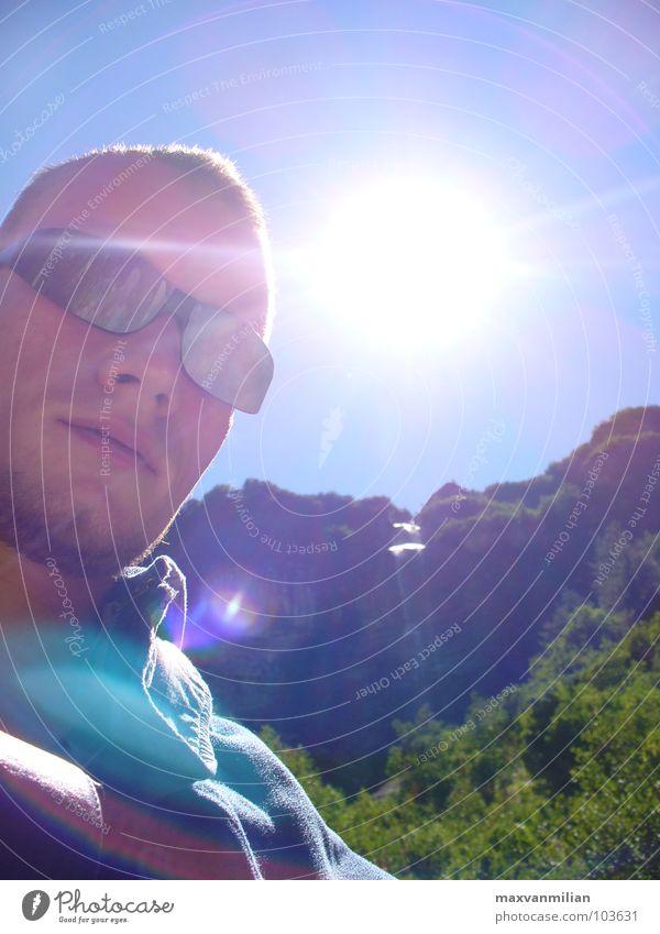 EGOshooting I Wasser Himmel Sonne Berge u. Gebirge träumen wandern Fluss Bach Sonnenbrille Wasserfall Haftstrafe