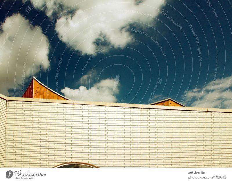 Philharmonie Himmel Sommer Wolken Berlin Wand Architektur Fassade modern Kultur Spitze Konzert Swing Berliner Philharmonie Kulturforum Berlin