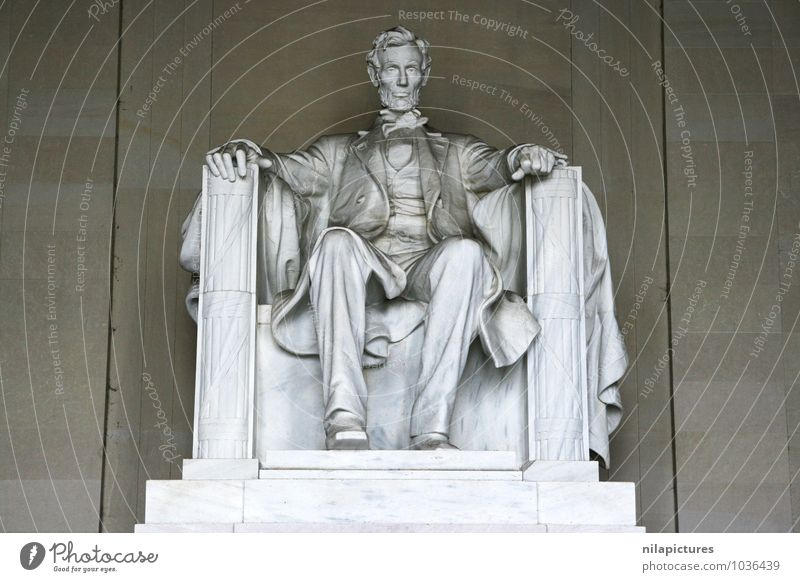 Abraham Lincoln Memorial Mensch Stadt Kultur Kunst Tourismus Statue Washington USA America Denkmahl memorials interior seriously marble monument president