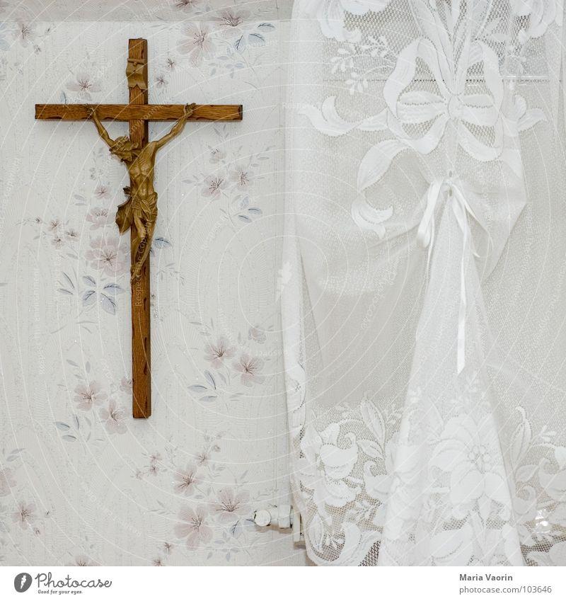 Ikea auf bayrisch Kitsch Götter Religion & Glaube Jesus Christus Bayern kreuzigen Wanddekoration Dekoration & Verzierung Gardine Tapete Gebet heilig Sünde