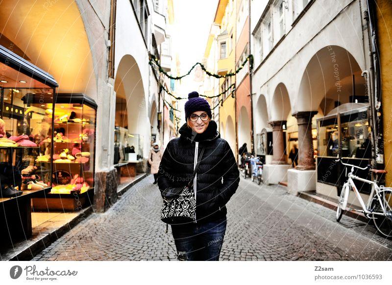 L in Bolzano Ferien & Urlaub & Reisen Jugendliche Stadt Weihnachten & Advent schön Junge Frau Erwachsene natürlich feminin Stil Glück lachen Lifestyle elegant