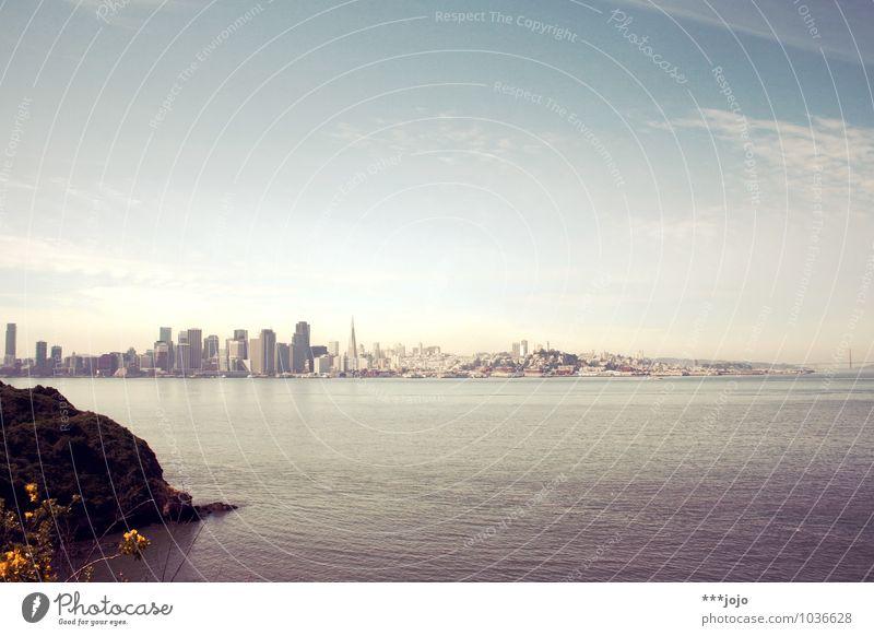 [für anne.] sf. San Francisco San Francisco Bay Stadt Hafenstadt Skyline Hochhaus Pazifik Meer Kalifornien Westküste USA Golden Gate Bridge Meerstraße