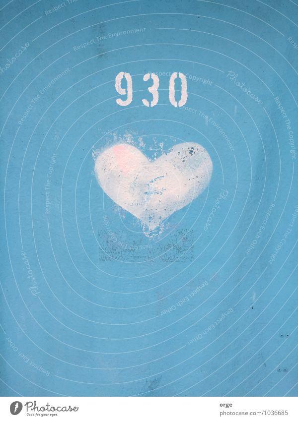Lokus Liebe Container Toilettenpapier Zeichen Ziffern & Zahlen Schilder & Markierungen Herz blau Farbfoto Außenaufnahme Menschenleer Textfreiraum oben