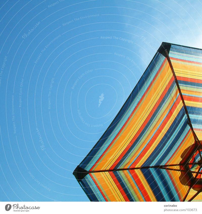 Summertime II Sonnenschirm Sommer Strand Ferien & Urlaub & Reisen mehrfarbig heiß Physik Farbe Freude Himmel blau bechlife Wärme