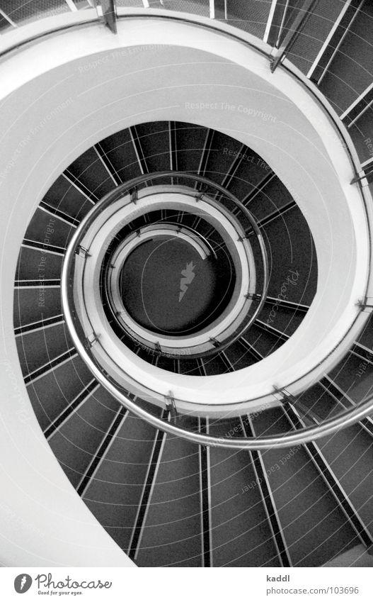 Rumgewirbel Wasserwirbel abstrakt Sydney Haus Detailaufnahme Schwarzweißfoto Treppe Verwirbelung Geländer Perspektive Architektur