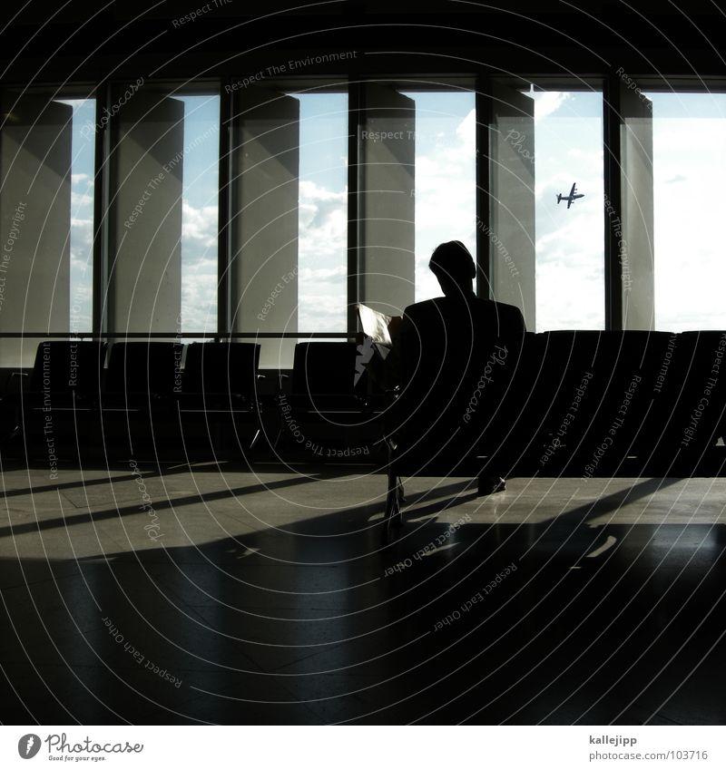 handlungsreisender Mann Ferien & Urlaub & Reisen Einsamkeit Erholung Arbeit & Erwerbstätigkeit Fenster Business Deutschland warten Zufriedenheit Flugzeug Zeit