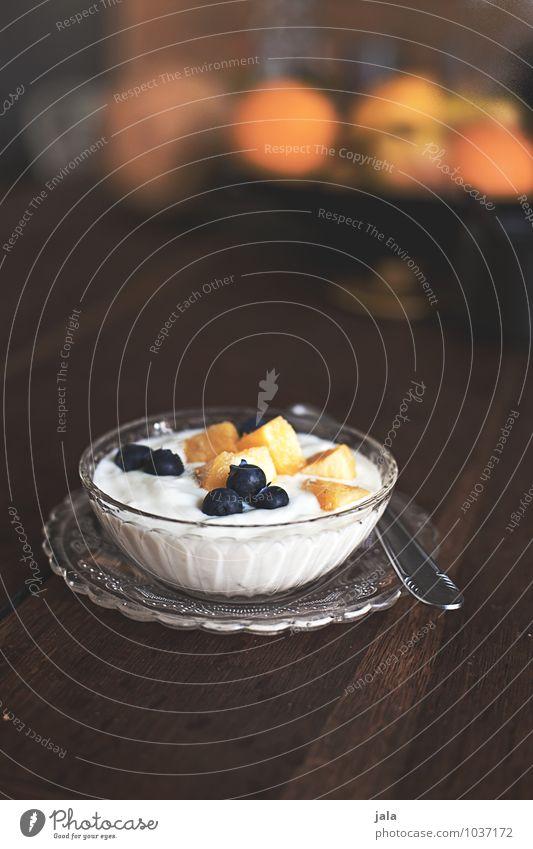 obstquark Lebensmittel Joghurt Milcherzeugnisse Frucht Quark Ernährung Frühstück Bioprodukte Vegetarische Ernährung Teller Schalen & Schüsseln Löffel